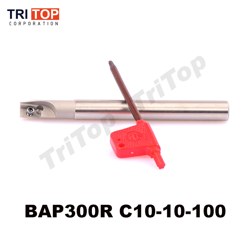 все цены на Milling tool holder BAP JAP 300R C10-10-100 face mill shoulder cutter for milling machine for insert APKT APMT1135 1 tooth head