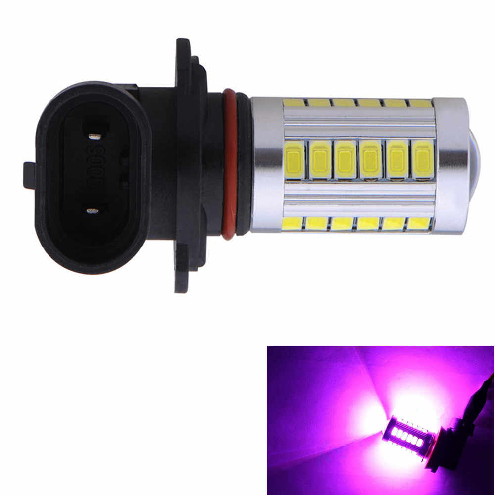 1x Car Auto 33 SMD Projector H10 9145 LED Fog Light 9140 Bulbs Driving Lamp PY20D 12V 33SMD Pink Purple Back Up Lamp