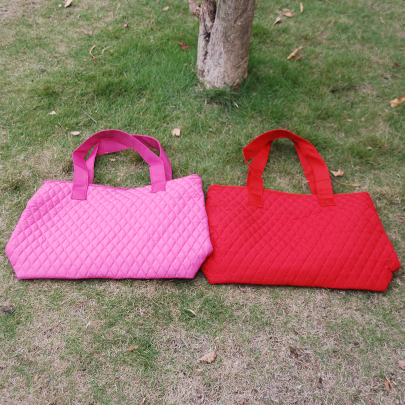 Wholesale Blanks Quilted Tote Bag Handbags Quilted Diaper Bag in ... : quilted tote bags cheap - Adamdwight.com
