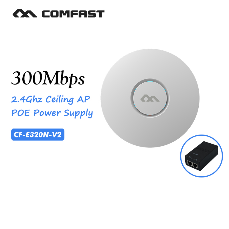 wifi router 300Mbps 2.4Ghz business use marketing system AP openWRT Wireless ceiling AP wireless indoor AP COMFAST CF-E320N-V2