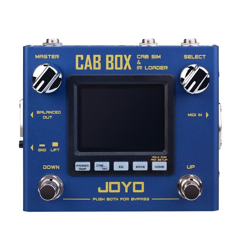 CAIXA de TÁXI R-08 JOYO Guitar Multi Effects Pedal IR Box Processador de Efeitos de Guitarra Estéreo Simulação IR Carregador Elétrico Dispositivos MIDI