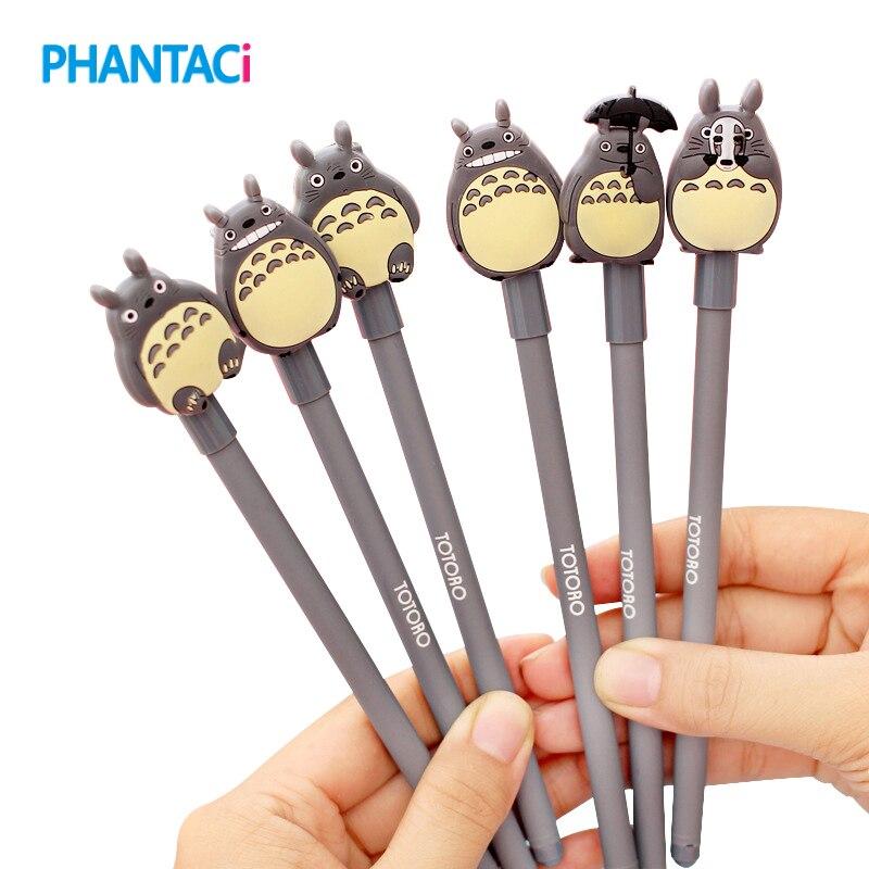 4 pcs/lot Novelty Cute My Neighbor Totoro Gel Ink Pen Signature Pens Escolar Papelaria School Office Supply Promotional Gift