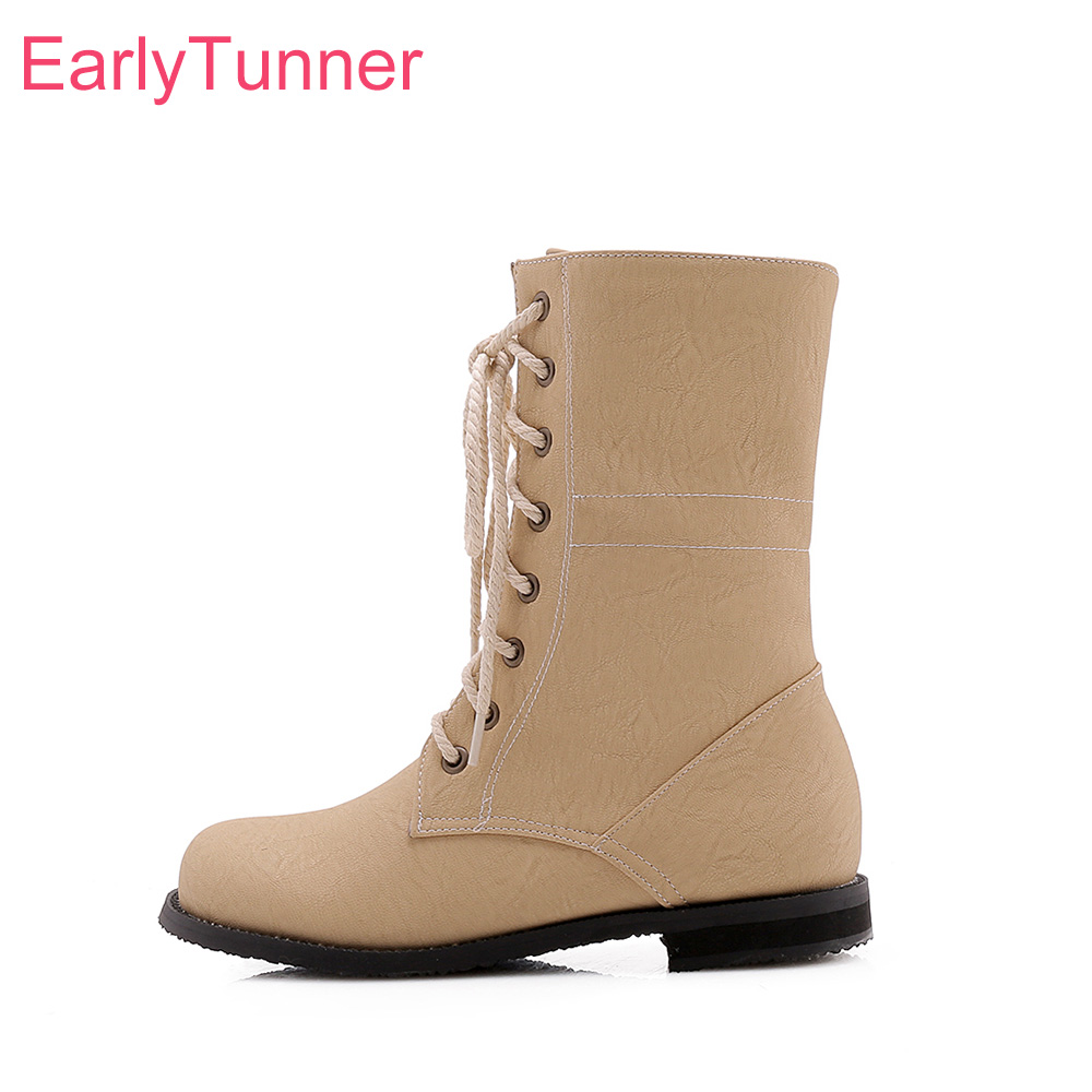 Shoes Martin-Boots Women Low-Heel Black Big-Size Winter Brand-New 52 Sale Small Apricot