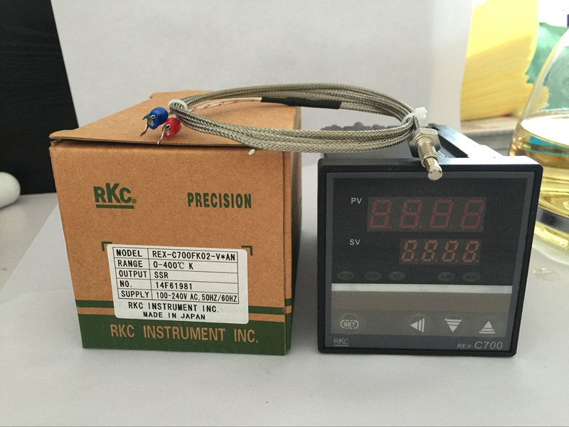 AC100-240V Temperature Controller RKC REX-C700 Thermocouple/PT100 Input SSR Output 72*72mm