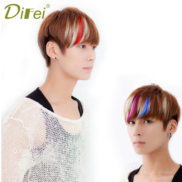 Difei 8 Colors Bangs Clip Hairpiece Synthetic Bangs Hair Extensions