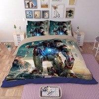 철 남자 필름 3D 인쇄 침구 세트 침대보 침대 시트 만화 어린이 성인 이불 하나의 전체 퀸 킹 사이