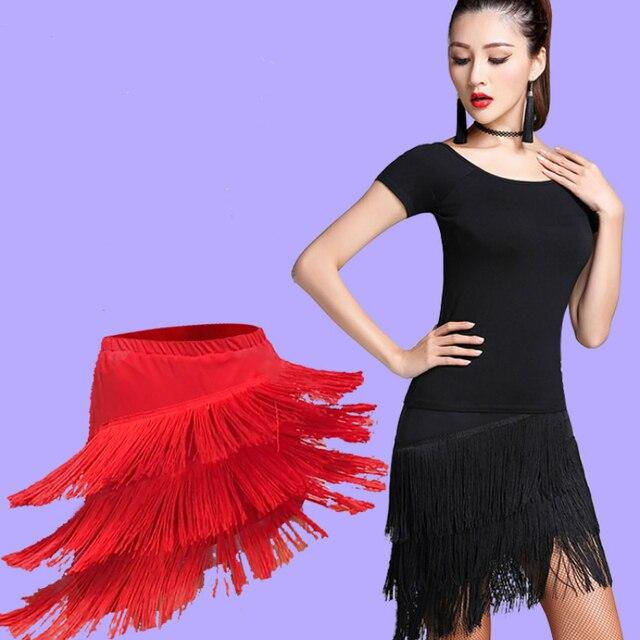 0af5fea741b33 2018 latin dance skirt sexy women top costume Samba Tango kinds of tassels  Dresses competition Performamnce salsa Lady Latin