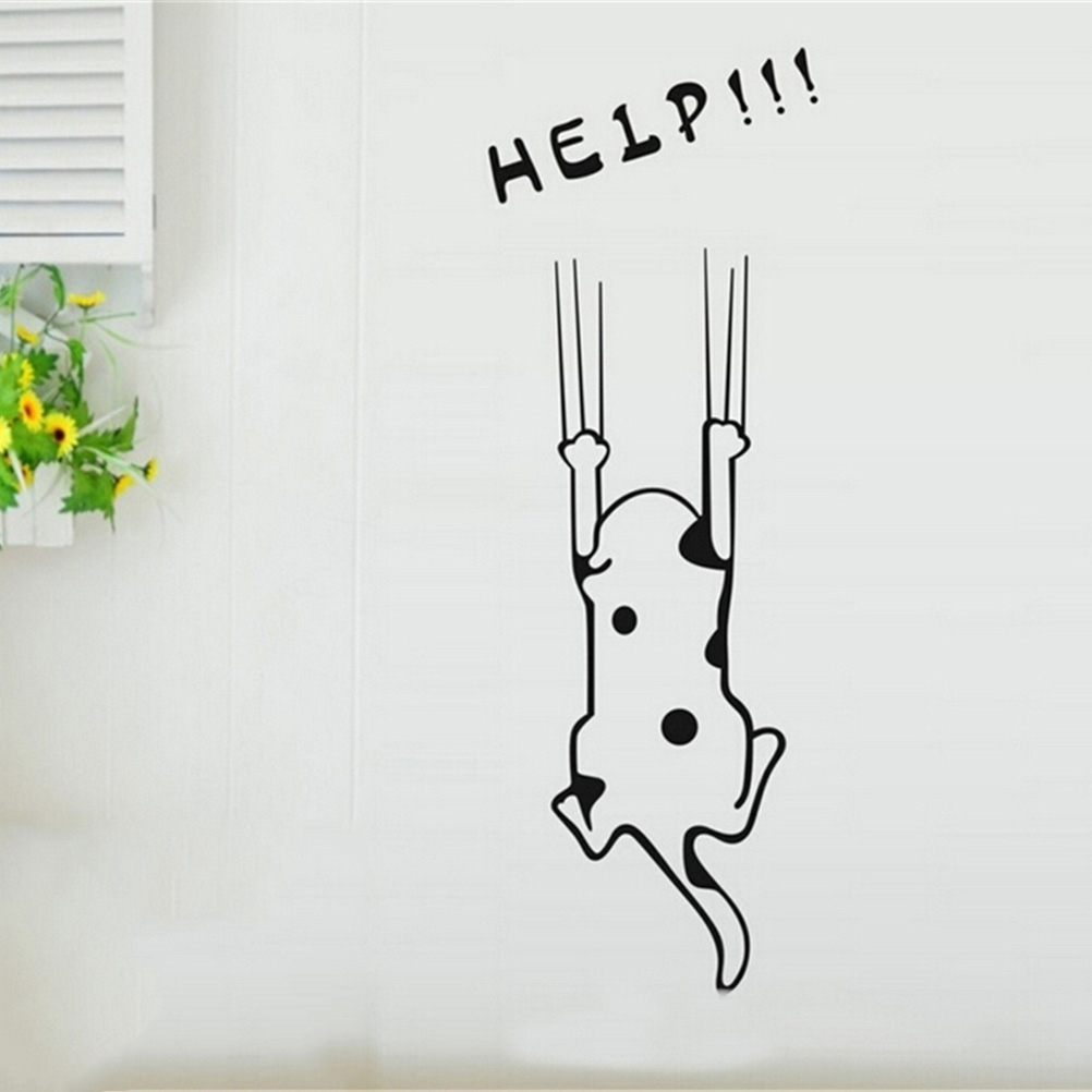 glass quotes promotion shop for promotional glass quotes on help cat quotes wall sticker refrigerator fridge wall stickers cartoon child kitchen cabinet furniture glass decals home decor