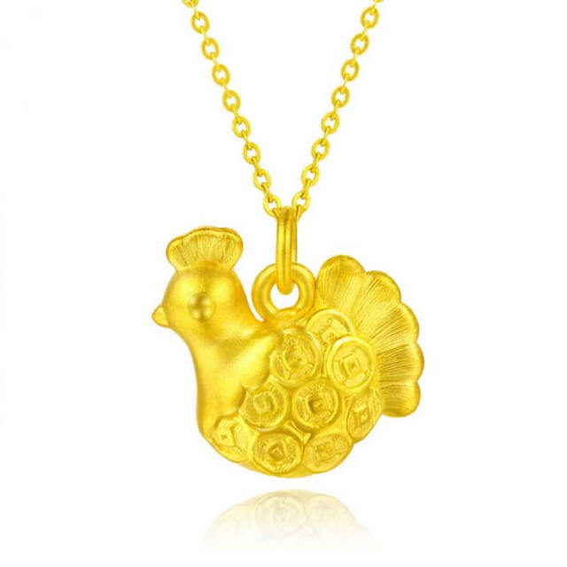 luxury pixiu gold necklace from yellow charms real silver product wholesale pure designer pendant rose