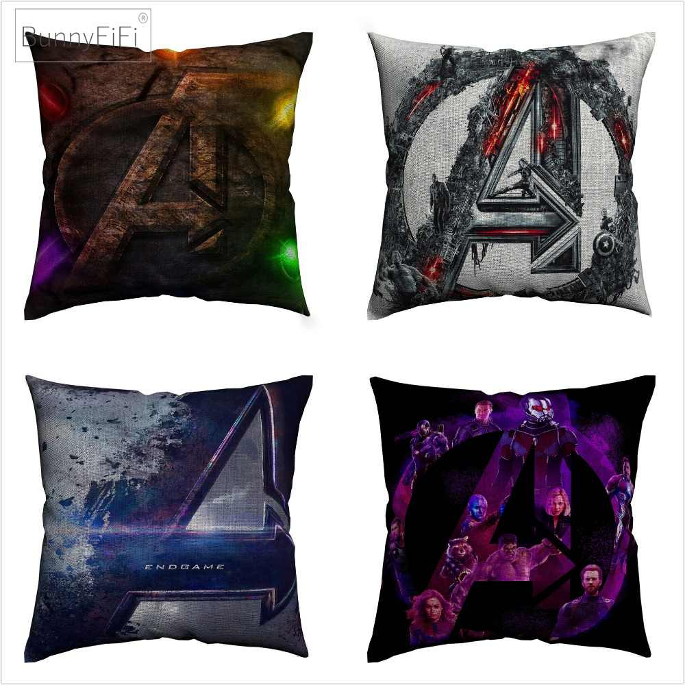 Avengers End Game Marvel Movie Art Cotton Linen Cushion Cover 45 x 45 cm For Sofa Chair Pillow Case Home Decor Almofada