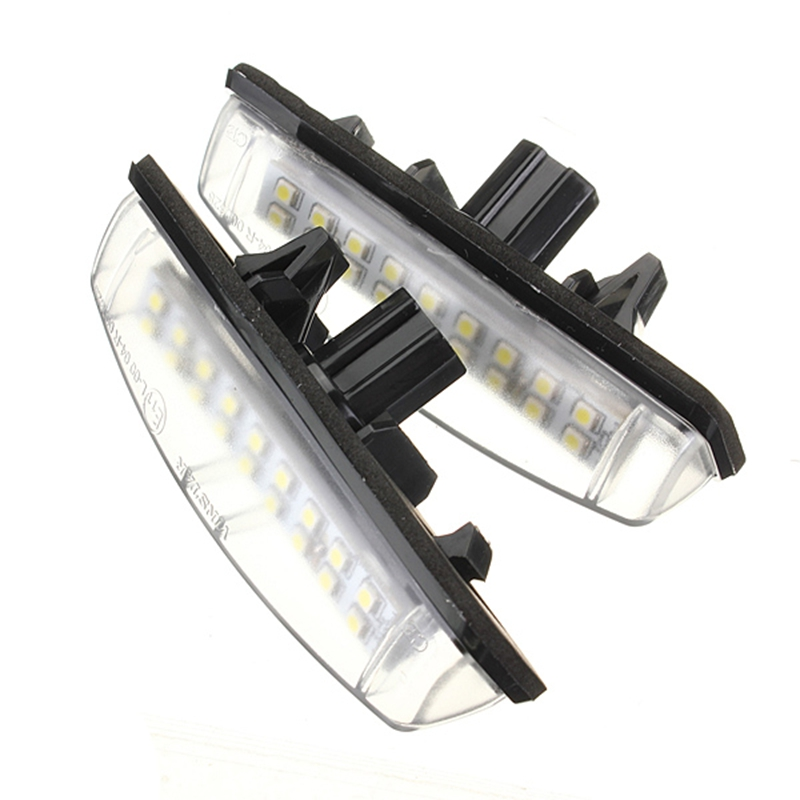 2X White Car LED License Plate Lights 12V Number Plate Lamp No Error fit For Lexus IS200 IS300 GS300 1pcs canbus error free t15 car led backup reverse lights lamps for lexus ct es gs gx is is f ls lx sc rx is250 rx300 is350 is300