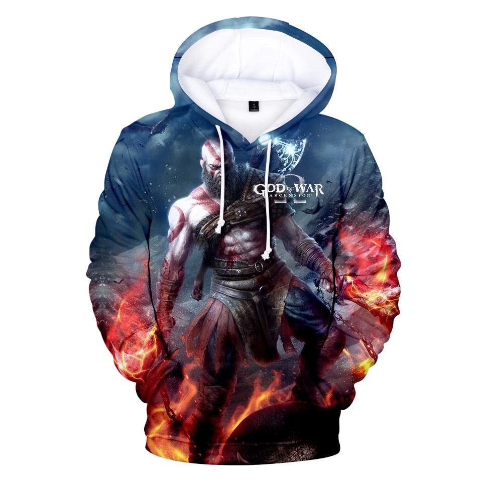 God Of War 3d Hoodies Sweatshirts Gamers Geek hoodie Sweatershirt Kratos Graphic Autumn Winter Warm Fleece Jacket Coat hoodie
