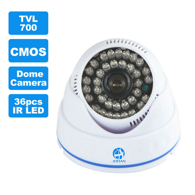 JOOAN 1/3 CMOS 700TVL Indoor Security CCTV Camera 36pcs IR LED Home Video Surveillance HD Night Vision Video Mini Dome Camera