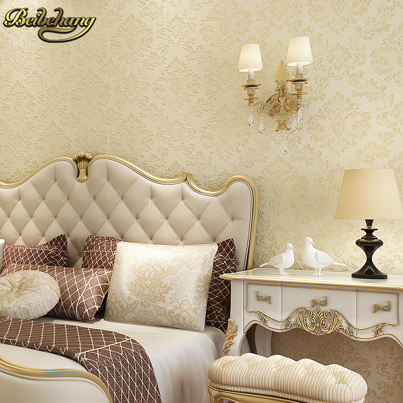 beibehang European 3D wallpaper for walls non-woven wall paper papel de parede para quarto for bedroom TV Background Covering