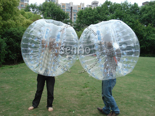 WB012 Бесплатная доставка 0.8-1.0 мм ПВХ бампер мяч, пузырь мяч/трава мяч/тело зорб/жонглирование мяч 100% Гарантия Качества