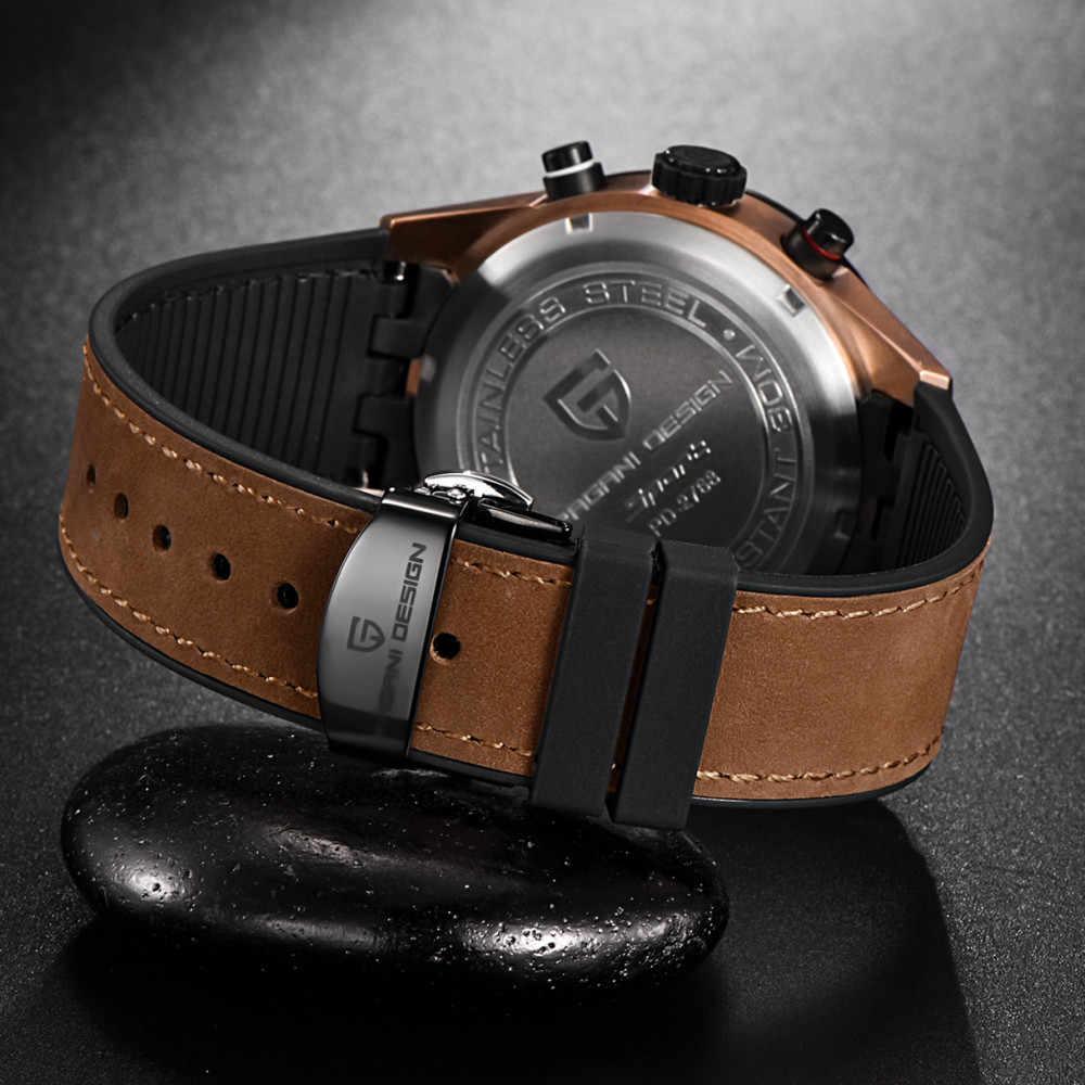 PAGANI עיצוב 2019 יוקרה למעלה מותג עמיד למים קוורץ שעון גברים אופנה צבאי ספירה לאחור שעון שעון יד Relogios Masculino