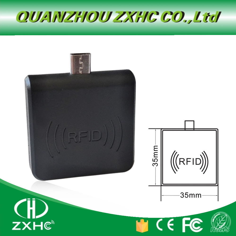 Portable 13.56 MHz F08/MF S50 RFID Reader Android Mirco USB For Smart Phone Keypad Emulation