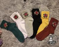 Christmas Socks Cotton Casual New Real 2016 Hand Diamond Socks Woman Custom Candy Colored Gem Sequins