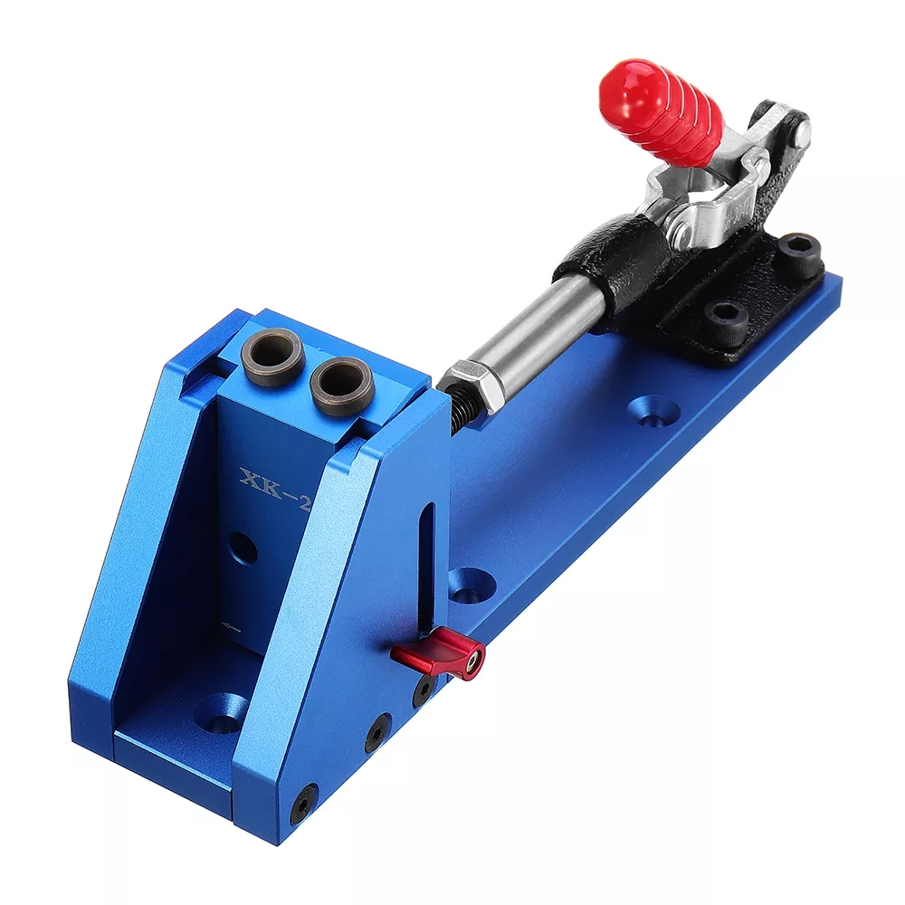 ALLSOME Wood Working Tool Pocket Hole Jig with Toggle Clamp and 9.5mm Drill Bit PH1 Screwdriver For Carpenter Hardware