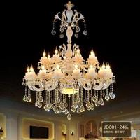 큰 호텔 로비 빌라 거실 크리스탈 램프 샹들리에 펜트 하우스 조명 램프 골동품 도자기 샹들리에 산업 조명