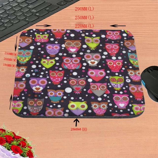 Anti Slip Assorted Owl Desktop Mousepad