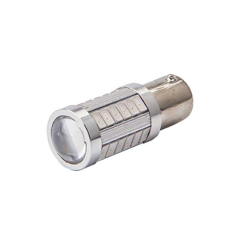 LYMOYO 2pcs Strobe แฟลช T20 LED P21/5 W BAY15D 1157 1156 ba15s 7443 5630 33SMD เบรครถหลอดไฟกระพริบสีแดง led Stop Light 12v