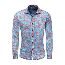MORUANCLE Men Casual Jean Shirts Long Sleeve Camouflage Denim Shirts Tops For Male 100% Cotton Turn Down Collar Size S-XXL(China)