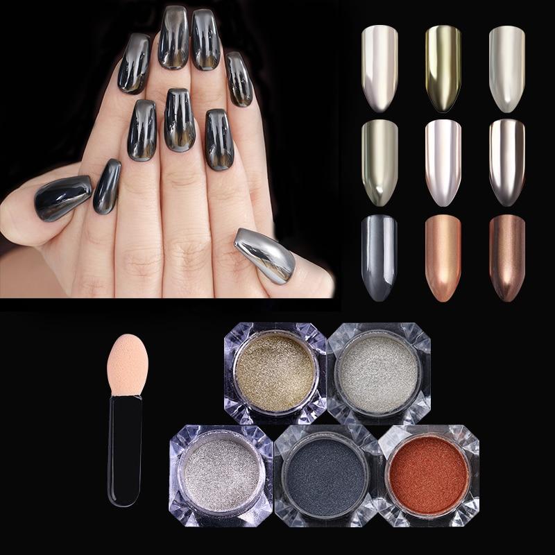 Nails Art & Werkzeuge A-nagel 3 Farben/set Rose Gold Lila Pulver Glitter Spiegel Chrom Uvgelpoliermittel Pigment Nail Maniküre Werkzeuge