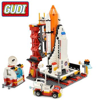 City Spaceport Space Shuttle Launch Center Building Block 679pcs