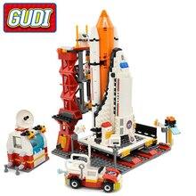 GUDI Toy Block City Spaceport Space Shuttle Launch Center Building Block 679pcs Classic Brick Educational Toys For Children