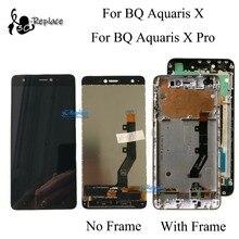 100% Test Orijinal 5.2 inç BQ Aquaris X/BQ Aquaris X Pro lcd ekran + dokunmatik ekranlı sayısallaştırıcı grup Çerçeve Ile