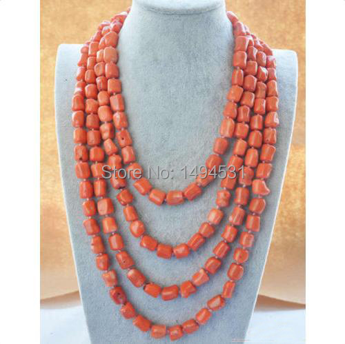 Wholesale Pearl Jewelry Natural 100 Inches 13x15mm Massive Pink Coral Necklace - Handmade Jewelry - XZN33