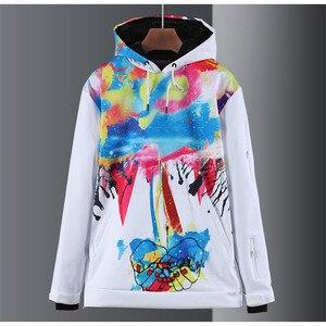 Image 3 - 새로운 남성과 여성 스노우 슈트 야외 스포츠웨어 스노우 보드 스키 스케이트 등산 까마귀 방수 겨울 의상 자켓