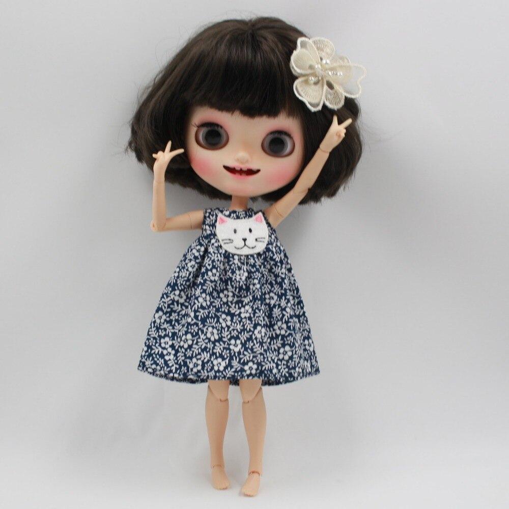 Neo Blythe Doll Floral Dress with Headdress 1