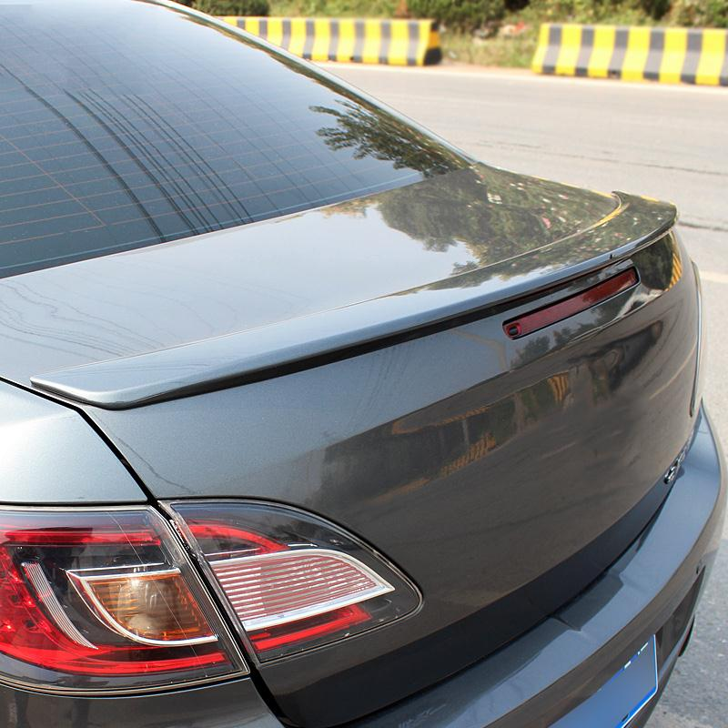 ФОТО Car Styling Rear Wing Trunk Spoiler Decorative Cover Without Paint For Mazda 6 2009 2010 2011 2012 ABS Chrome Auto Accessories