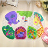 2015 Hot Sale Antimicrobial PVC Non Slip Bath Mats For Bathroom And Toilet Mat Suction Cup