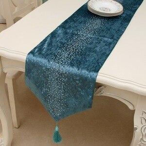 Image 5 - Junwell 패션 현대 테이블 러너 다림질 다이아몬드 2 레이어 러너 테이블 천으로 Tassels Cutwork 수 놓은 테이블 러너
