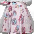 Soft Sister Lolita Short Skirts Japan Fashion Lady Tutu Skirt Cake&Strawberry Cute High Waist Girls' Gauze  Chiffon Skirt Female