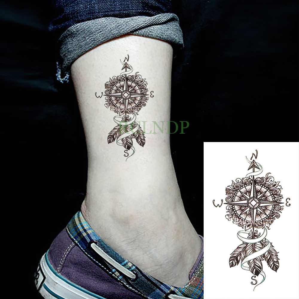 Tahan Air Stiker Tato Sementara Kompas Dreamcatcher Palsu Tatto Flash Tato Tatouage Pergelangan Tangan Kaki Tangan Lengan Untuk Gadis Wanita Pria Aliexpress