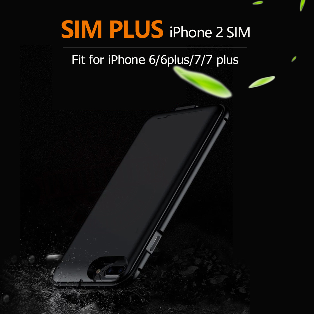 2017 SIMplus Dual SIM Dual Standby Adaper Metal Frame Ultrathin Long Standby For IPhone7 7 Plus