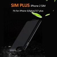 2017 SIMplus Dual SIM Dual Standby Adaper Metal Frame Ultrathin Long Standby For IPhone7 7 Plus