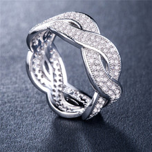 Huitan Vintage Luxury Ring Band For Women Fashion Chain Shaped Cool Stylish Accessories Finger 3 Color Available