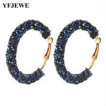 Женские богемные серьги кольца yfjewe большие круглые геометрической