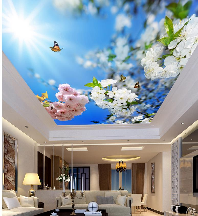 Beautiful Sunshine And Blue Flowers Living Room Bedroom