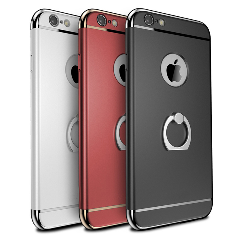 Classic 3 in 1 design case plastik dengan electroplating parts untuk iphone 6 dan 6S dan 6 plus dan untuk iphone 6s plus case
