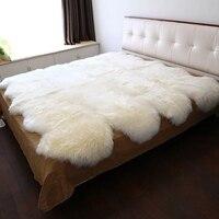 Merinos koyun postu kilim yatak  koyun derisi dekorasyon halı oturma odası için  kürk battaniye  yatak slayt halı 150*200 cm