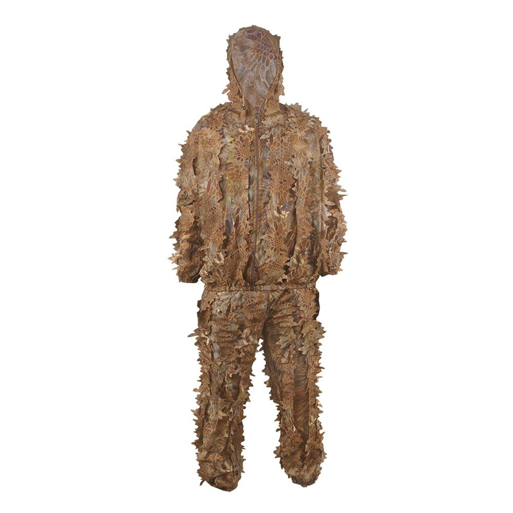 Outdoor Camouflage Ghillie Suit Military Leaf Shooting Accessories Tactical Gear Clothing for Airsoft Hunting Clothes