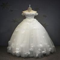 White Ball Vestido Palabra de Longitud Puffy Tulle Vestidos de Noche Vestido de Fiesta Con Sequineds SH0083