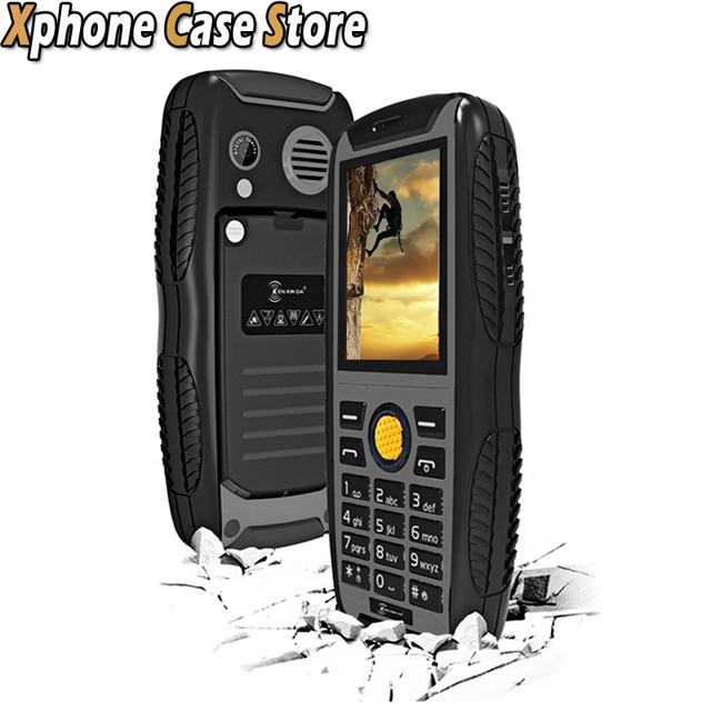 KEN XIN DA Proofing W3 Bar Waterproof Dustproof Shockproof Smartphone 2.2 inch for SC6531 Dual SIM Support Bluetooth /  FM / MP3