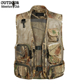 Summer Outdoors Tactical Camouflage Mesh Vest Men Breathable Multi Pockets Camo Hunt Vest Shooting Waistcoat Sleeveless Jacket